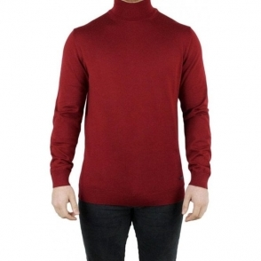Armani Collezioni Turtleneck Knitwear in Red