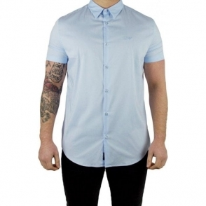 Armani Jeans AJ Shirt in Baby Blue