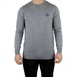 Love Moschino Round Peace Logo Knitwear in Grey