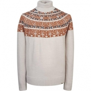 Pretty Green Abbott Knitwear in Stone