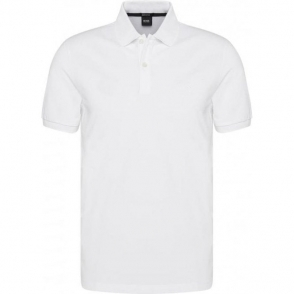 Boss Black Pallas Polo Shirt in White