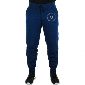 True Religion Contrast Jogging Bottoms in Navy