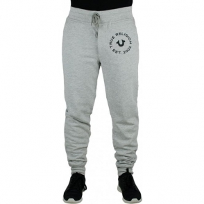 True Religion Contrast Jogging Bottoms in Grey