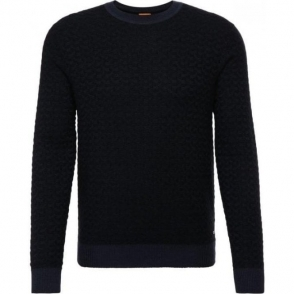 Boss Orange Kuvudo Knitwear in Dark Blue
