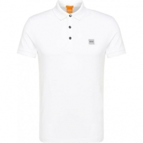 Boss Orange Pavlik Polo Shirt in White