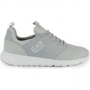 Ea7 Leopard Print Trainers in Grey