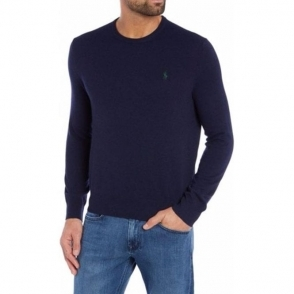Polo Ralph Lauren Green Horse Knitwear in Navy