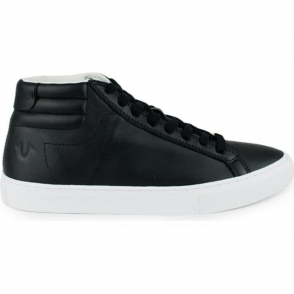 True Religion High Top Trainers in Black