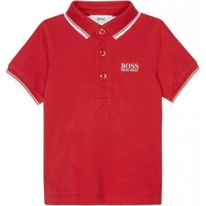 Boss Kids Core Polo Shirt in Red