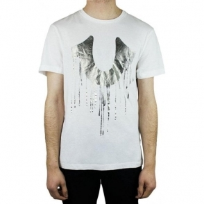 True Religion Drippy Horseshoe T-Shirt in White