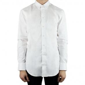 Collezioni Plain Slim Formal Shirt in White