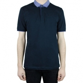 Collezioni Contrast 2 Polo Top in Navy