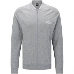 Boss Black College Jacket Zip Loungewear in Grey