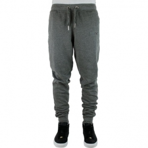 True Religion Metal Logo Jogging Bottoms in Dark Grey