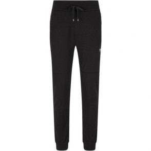 Boss Black Loungewear Long Pant Cuffs Tracksuit Bottoms in Black