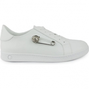 Versus Versace Pin Side Trainers in White