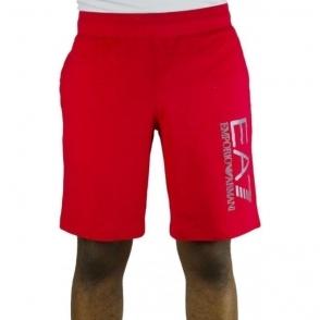Ea7 Bermuda Shorts in Red