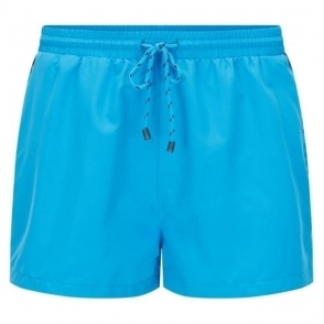 Boss Black Mooneye Swim Shorts in Light Blue