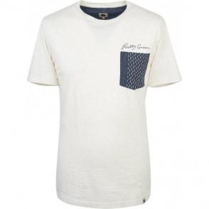 Pretty Green Edgedale Pocket T-Shirt in Stone