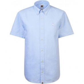 Pretty Green Oldbury Short Sleeved Shirt in Sky Blue