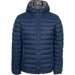 Pretty Green Pembrook Quilted Jacket in Navy
