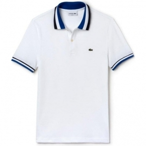 Lacoste Tipped Polo Shirt in White