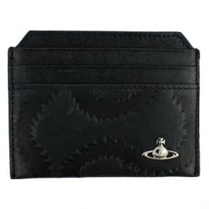 Vivienne Westwood Squiggle Cardholder Wallet in Black