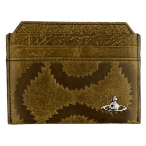 Vivienne Westwood Squiggle Cardholder Wallet in Brown