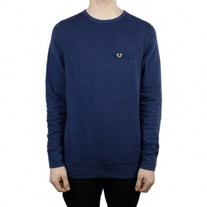 True Religion Metal Horse Logo Sweatshirt in Navy