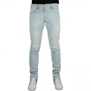 True Religion Rocco Moto Jeans in Light Wash