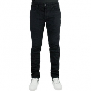 True Religion Rocco Moto Jeans in Black