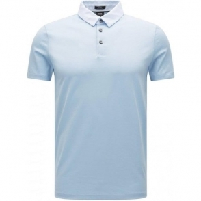 Boss Black Place 16 Polo Shirt in Baby Blue