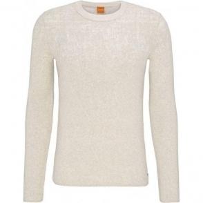Boss Orange Kapixo Knitwear in White