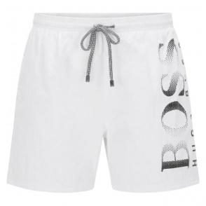 Boss Black Octopus Swim Shorts in White