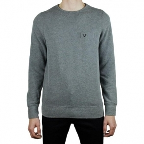 True Religion Metal Horseshoe Sweatshirt in Dark Grey