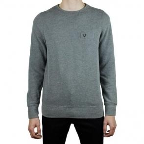 True Religion Metal Horseshoe Sweatshirt in Dark Grey
