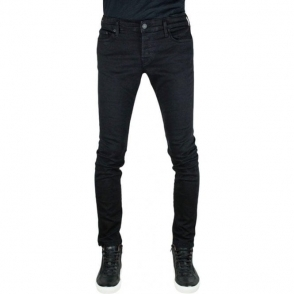 True Religion Tony No Flap Jeans in Black