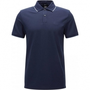 Boss Black Parlay 09 Polo Shirt in Navy