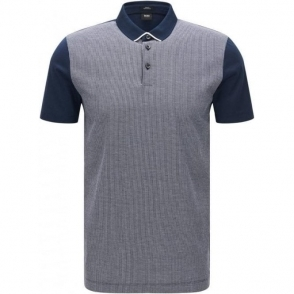 Boss Black Place 14 Polo Shirt in Navy