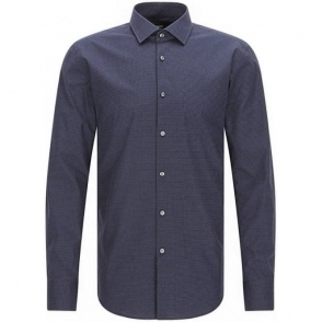 Boss Black Jenno Formal Shirt in Navy