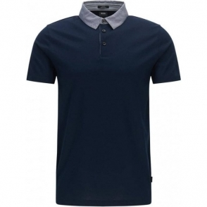 Boss Black Place 16 Polo Shirt in Navy