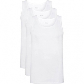 Boss Black T-shirts Tank Top 3 Pack in White