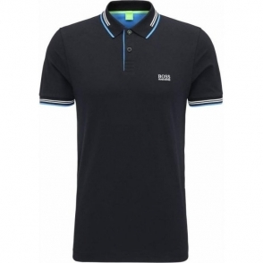 Boss Green Paul Polo Shirt in Black