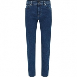 "Boss Black Maine3 34"" Long Leg Jeans in Mid Wash"