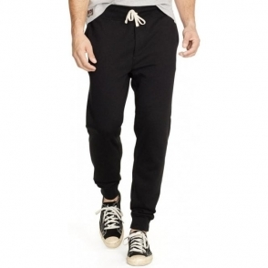 Ralph Lauren Polo Cuffed Jogging Bottoms in Black