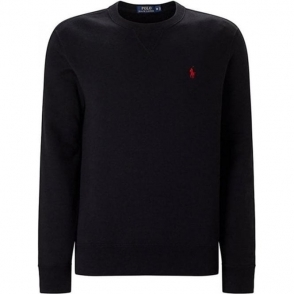 Ralph Lauren Polo Long Sleeve Slim Sweatshirt in Black