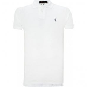 Ralph Lauren Polo Short Sleeve Slim Polo Shirt in White