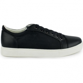 Armani Jeans Footwear All-Over Logo Trainers in Black