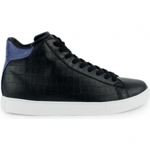 Armani Jeans Footwear Croc High Top Trainers in Black