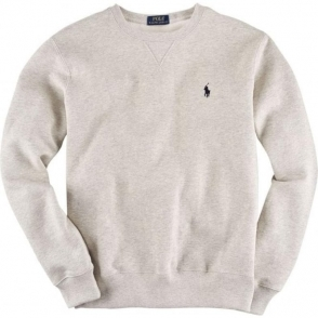 Ralph Lauren Polo Long Sleeve Slim Sweatshirt in Grey